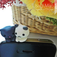 SALE30-70%OFF: Cute couple cat sitting for iPhone Plug . Dust Plug . Phone Plug . Phone Charm couple, Kawaii, Lovely, Girly, Cat