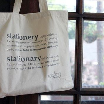 Stationery Stationary Tote by shopsaplingpress on Etsy