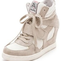 Ash Cool Suede Wedge Sneakers with Canvas Insets | SHOPBOP
