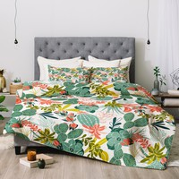 Heather Dutton Succulent Garden White Comforter