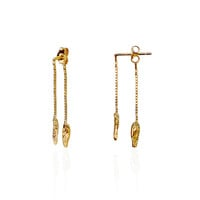 ILLUSION Tinkling Earrings - GOLD