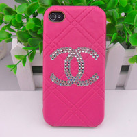 Beautiful Chanel 4,4S iphone pink hard Case cover for iPhone 4 Case, iPhone 4S Case,iPhone 4 GS case ,iPhone hand  case cover  -255