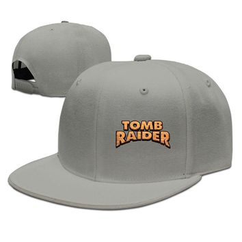 Video Game Series Tomb Raider Logo Printed Unisex Adult Womens Fitted Hats Mens Hip-hop Caps