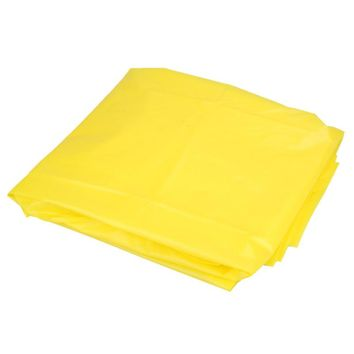 PVC Reusable Adult Rain Coat Bright Yellow with Cap Poncho Raincoats Outdoor Cycling Camping Motorcycle Raincoat Rainwear