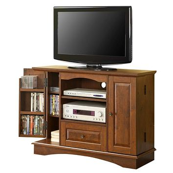 "42"" Brown Wood Highboy TV Stand"