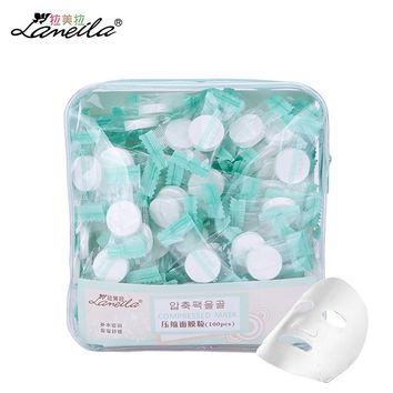 LAMEILA 100pcs Compressed Mask Cotton Facial Sheet DIY Skin Face Care Wrapped Masks Paper Ultra-thin Breathable Beauty Spa Tools