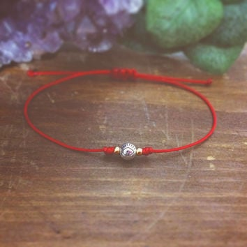 Evil Eye Bracelet - Red String Bracelet - Friendship Bracelet - Best Friend Gift - Red Bracelet