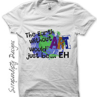 Earth Day Iron on Transfer - Iron on Art Shirt PDF / Earth Without Art Printable / Girls Kids Clothes / Womens Tshirt Quote  IT218
