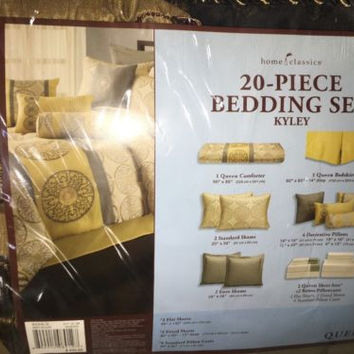 home classics 20 piece bedding set queen Royal Colors