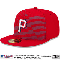 Pittsburgh Pirates 2015 Authentic Collection Stars & Stripes Diamond Era 59FIFTY On-Field Game Cap - MLB.com Shop