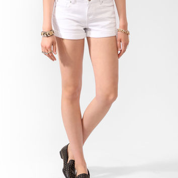 Cuffed Perma-Creased Denim Shorts