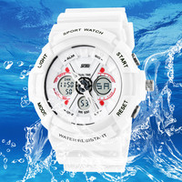 shock digital analog watches men women LED electronic Day 50m dive army G type sport watch relogio masculino feminino lady white