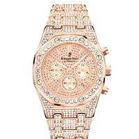 Audemars Piguet full diamond quartz watch for men and women #4