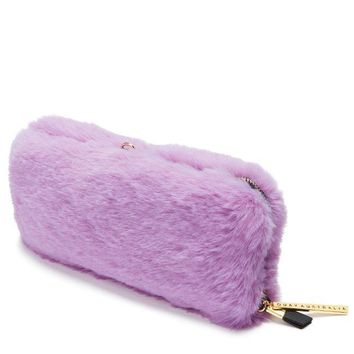 FAUX FUR ZIP CASE