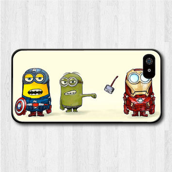 The Avengers Minion iPhone 5 case, Disney iPhone 5 hard case, Despicable Me cover skin case for iphone 5 (Hard / Rubber case for choice)
