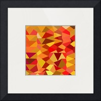 """""""Coquelicot Red Abstract Low Polygon Background"""" by Aloysius Patrimonio"""