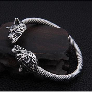 Wolf bracelet adjustable Viking Bracelet