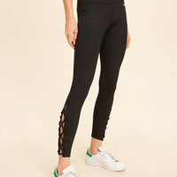 Girls Strappy Icon Leggings | Girls Bottoms | HollisterCo.com