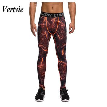 Vertvie Running Tights Men Gym Spandex Fitness Leggins Men Gym Compression Pants Men Long Men Leggings Compression Running Pants