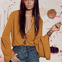 Free People Easy Girl Buttondown Tunic