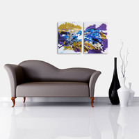 Abstract Art Original Contemporary Modern Painting Large by hjmart