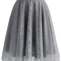 Grey Romance Organza Skirt