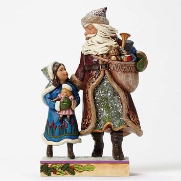 Jim Shore Victorian Santa With Child-4047672