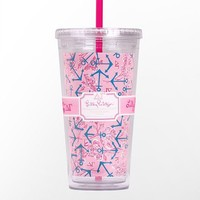 Lilly Pulitzer - Tumbler With Straw- Delta Gamma