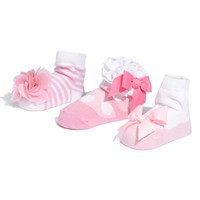 Infant Girl's Mud Pie Socks Set - Pink (3-Pack)