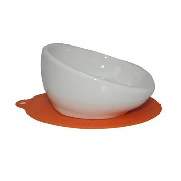 S Ceramic Cat or Small Dog Bowl&mat,Ergonomically slanted for easy reach to food,short-snouted breeds dog Feed Bowl Ceramic