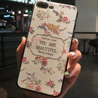 you are beautiful Pattern Case for iPhone X 8 7 6S Plus &Gift Box