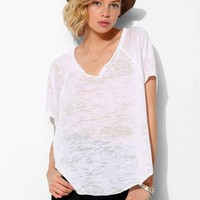 Project Social T Burnout Split-Neck Tee- White S