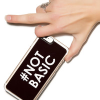 Zero Gravity #Not Basic iphone 6 Case Black One