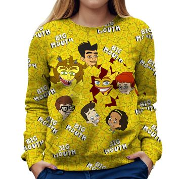 Big Mouth Collage Womens Sweatshirt