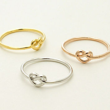 Commitment Everyday Wedding BFF Heart Knot Ring Infinity rings for women best friend gift