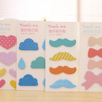 New arrival Cute sticky notes,memo pads for DIY scrapbook decoration,bookmark,label mark,memo notes,paper working,wedding party deco