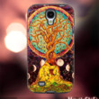 MC11Y,14,Colorful,painting,Tree of Life -Accessories case cellphone- Design for Samsung Galaxy S5 - Black case - Material Soft Rubber