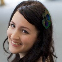 Leah Petite Peacock Fascinator by LaPlumeEthere on Etsy