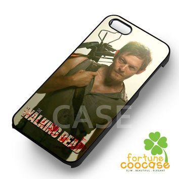 Walking Dead Daryl Dixon Crossbow on his back -E3N for iPhone 6S case, iPhone 5s case, iPhone 6 case, iPhone 4S, Samsung S6 Edge