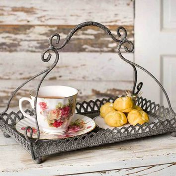 Farmhouse Rustic Chantilly Tray