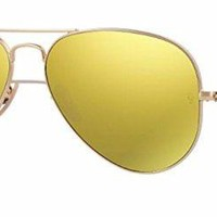 Cheap Ray Ban RB3025 112/93 58M Matte Gold/ Brown Gold Mirror Aviator outlet