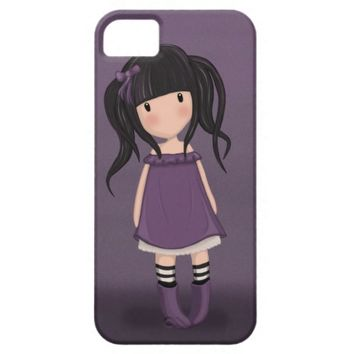 Dolly girl in purple iPhone SE/5/5s case