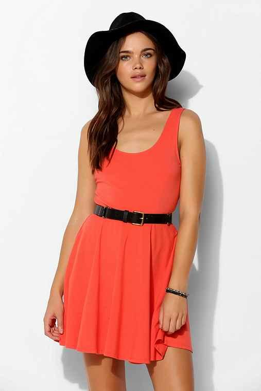 Sparkle & Fade Knit Skater Dress- Burnt Orange M