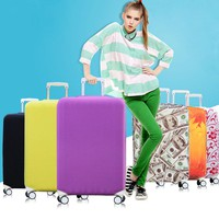 Suitcase Covers Luggage Cover Protector with Elastic Fabric Protect Suitcase from Scracth Reconizable Cover for Travelling