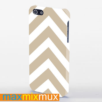 Brown Chevron iPhone 4/4S, 5/5S, 5C Series Full Wrap Case
