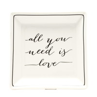 Love Graphic Jewelry Tray