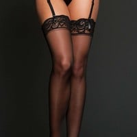 iCollection Lingerie Sheer Thigh High
