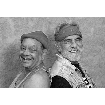 Cheech And Chong Poster Standup 4inx6in black and white