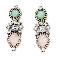 Figure Rhinestone Earrings