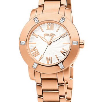 Folli Follie Ladies Donatella Rose Gold Crystal Watch